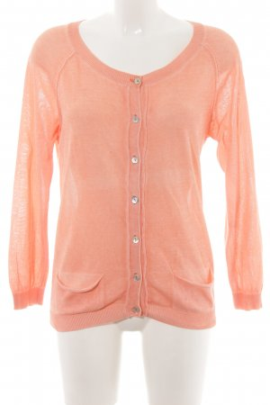 Rich & Royal Strickjacke apricot meliert Casual-Look