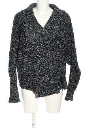 Rich & Royal Strickjacke schwarz-weiß meliert Casual-Look