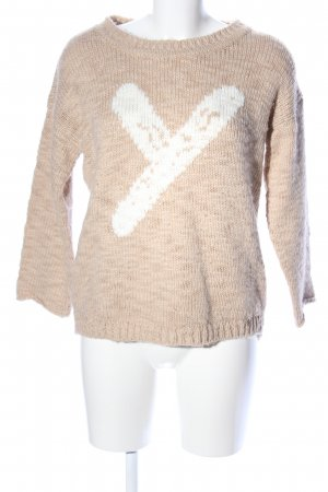 Rich & Royal Strickpullover creme-weiß Casual-Look