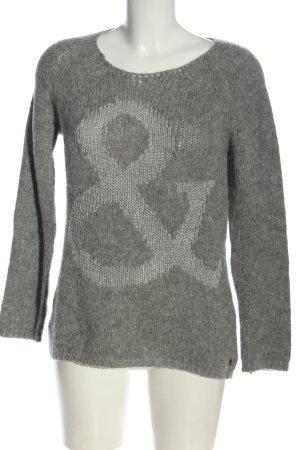 Rich & Royal Maglione lavorato a maglia grigio chiaro puntinato stile casual
