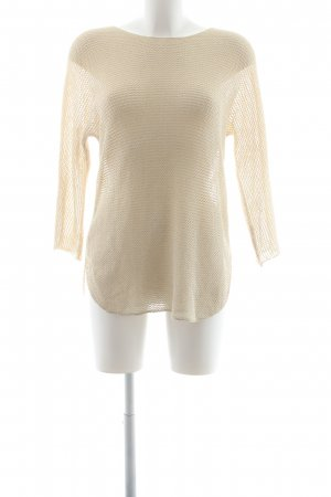 Rich & Royal Strickpullover hellbeige-goldfarben Casual-Look