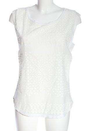 Rich & Royal Top z dzianiny biały Abstrakcyjny wzór W stylu casual
