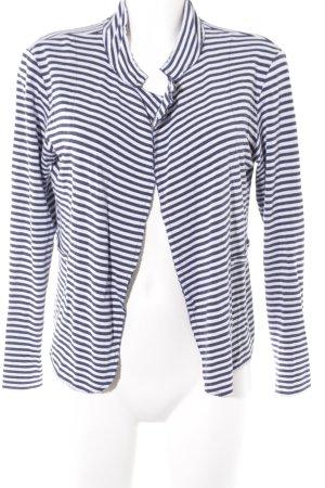 Rich & Royal Strickweste weiß-stahlblau Streifenmuster Casual-Look