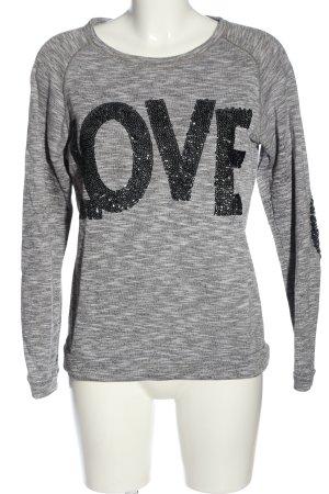 Rich & Royal Sweatshirt hellgrau meliert Casual-Look