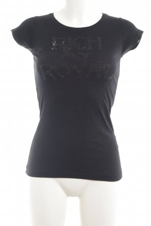 Rich & Royal T-Shirt schwarz Casual-Look