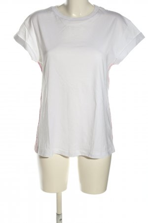 Rich & Royal T-shirt blanc-rose style décontracté
