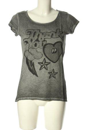 Rich & Royal T-Shirt hellgrau meliert Casual-Look