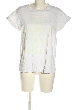 Rich & Royal T-Shirt weiß-grün Schriftzug gedruckt Casual-Look
