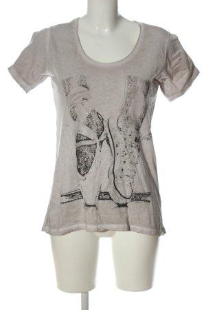 Rich & Royal T-Shirt hellgrau Motivdruck Casual-Look