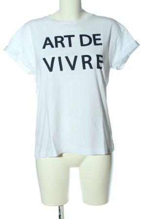Rich & Royal Camiseta blanco letras impresas look casual