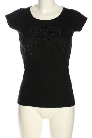 Rich & Royal T-Shirt schwarz Casual-Look