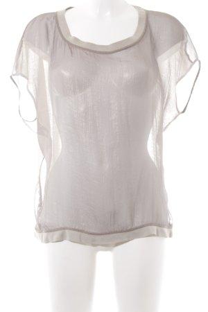 Rich & Royal T-Shirt beige-grau Glitzer-Optik