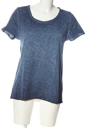 Rich & Royal T-Shirt blau meliert Casual-Look