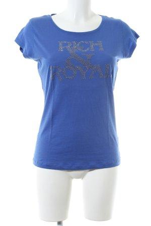 Rich & Royal T-Shirt blau Schriftzug gedruckt Casual-Look