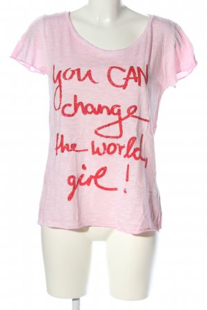 Rich & Royal T-Shirt pink-rot meliert Casual-Look