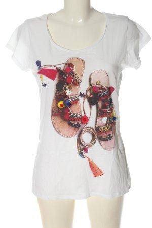 Rich & Royal T-shirt blanc imprimé avec thème style décontracté