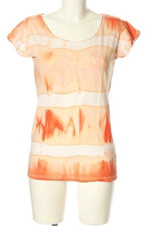 Rich & Royal T-Shirt creme-hellorange abstraktes Muster Casual-Look