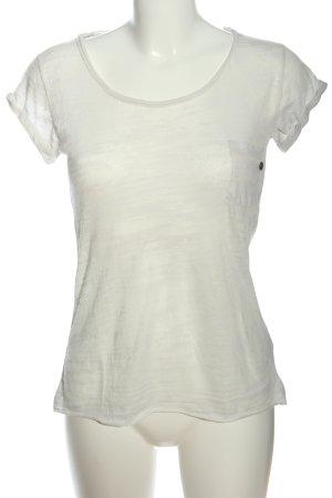 Rich & Royal T-shirt gris clair moucheté style décontracté