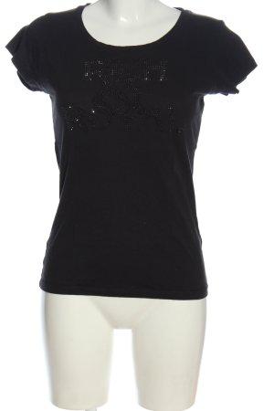 Rich & Royal T-shirt noir style décontracté