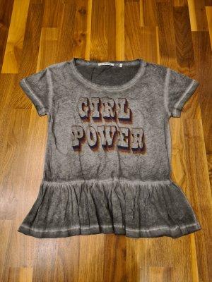 Rich & Royal T-Shirt dark grey-grey cotton