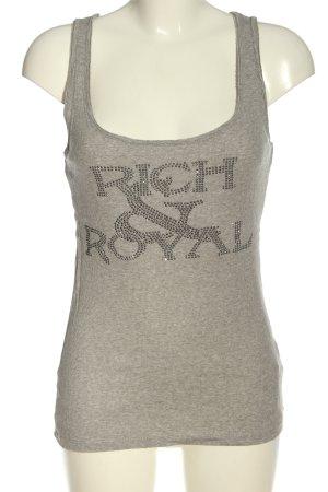 Rich & Royal Tanktop lichtgrijs gestippeld casual uitstraling