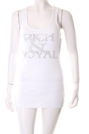 Rich & Royal Tanktop wit Kraal versieringen