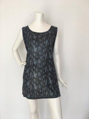 Rich&Royal Top Oberteil Shirt Kleid Oversize onesize  Mini Long lang schlangenprint mattglänzend schwarz Anthrazit blau fließender Fall Club ausgehen