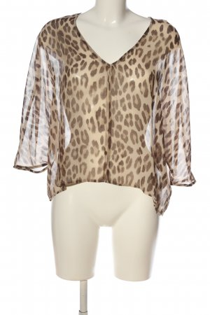 Rich & Royal Transparenz-Bluse goldfarben-bronzefarben Leomuster Casual-Look