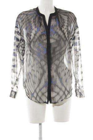 Rich & Royal Transparenz-Bluse abstraktes Muster schlichter Stil