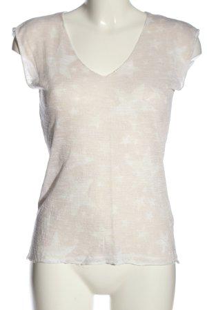 Rich & Royal T-Shirt hellgrau Allover-Druck Casual-Look