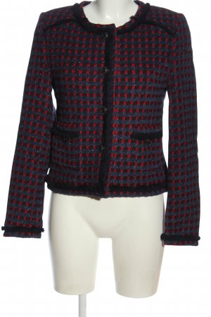 Rich & Royal Tweedblazer blau-rot Karomuster Glanz-Optik