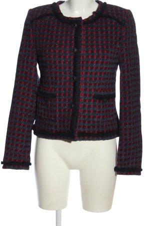 Rich & Royal Blazer in tweed blu-rosso motivo a quadri effetto bagnato