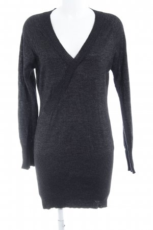 Rich & Royal V-Ausschnitt-Pullover schwarz Casual-Look
