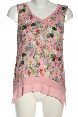 Rich & Royal ärmellose Bluse pink-grün Blumenmuster Elegant