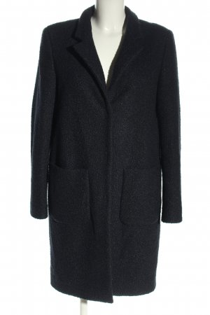 Rich & Royal Winterjas zwart gestippeld zakelijke stijl