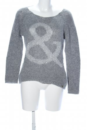 Rich & Royal Wollpullover hellgrau meliert Casual-Look