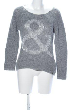 Rich & Royal Pull en laine gris clair moucheté style décontracté
