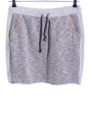 Rich & Royal Gonna di lana grigio chiaro-oro puntinato stile casual
