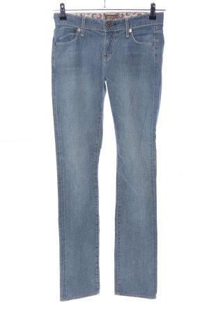 Rich & skinny Jeans vita bassa blu stile casual