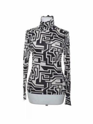 Richard Allen x H&M Koszulka z golfem czarny-biały