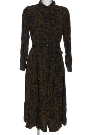 Richard Allen x H&M Blusenkleid braun abstraktes Muster Casual-Look