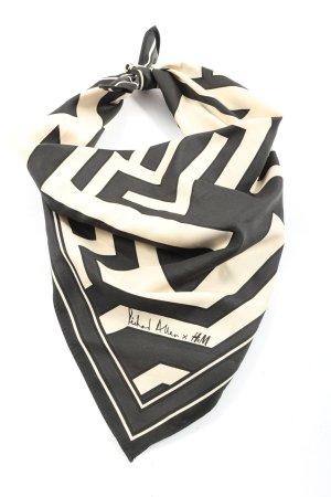 Richard Allen x H&M Pañoleta negro-blanco puro estampado con diseño abstracto