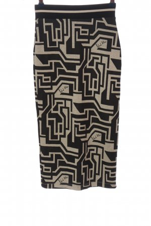 Richard Allen x H&M Gebreide rok zwart-wolwit volledige print casual uitstraling