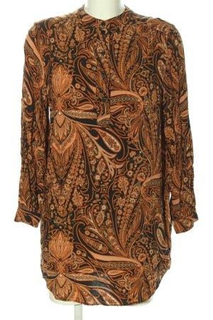 Richard Allen x H&M Abito a tunica nero-arancione chiaro stampa integrale