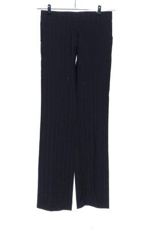 Richmond Anzughose schwarz-hellgrau Streifenmuster Business-Look