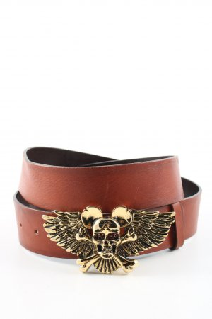 Richmond Leather Belt brown-gold-colored party style
