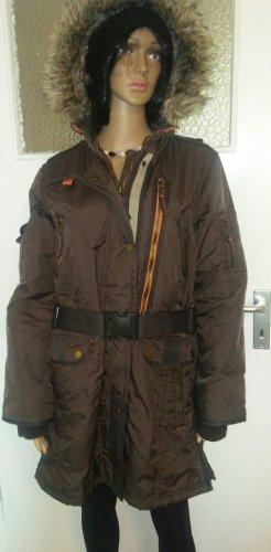 C&A Yessica Kurtka zimowa ciemnobrązowy-brązowy Tkanina z mieszanych włókien