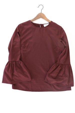 rick cardona Bluse Größe 38 neuwertig Trompetenärmel rot aus Polyester