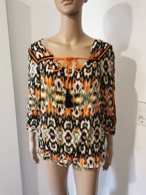rick cardona Crash Blouse light orange-black viscose