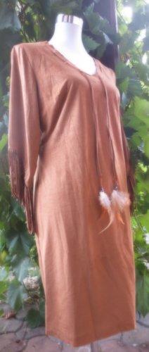 Rick Cardona Ethnolook Kleid in Leder Optik Stiefelkleid Blogger Boho Hippie